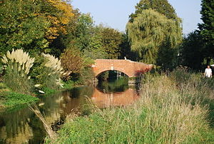 A bridge over the River Stour at Fordwich in K...