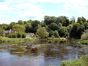 Kings Mills from the north bank of the River T...