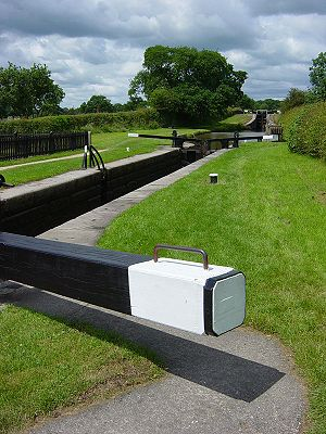 Canal locks in England.