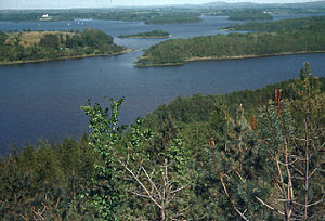 Lower Lough Erne from Ely Lodge Forest. Lookin...