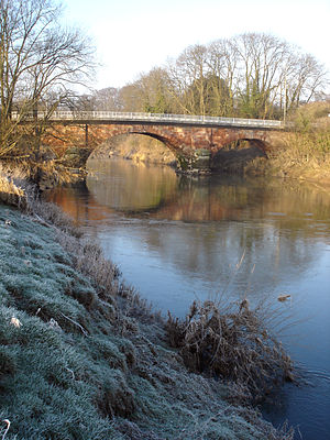 Monford Bridge In Shropshire, England. Spannin...
