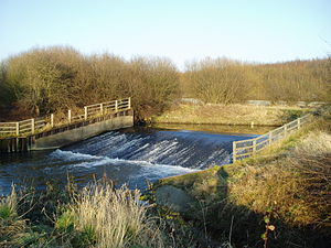 River Rother weir at Beighton