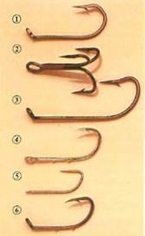 main types of coarse fishing hooks