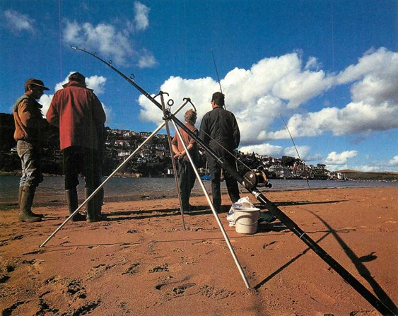 Beachcasting rods