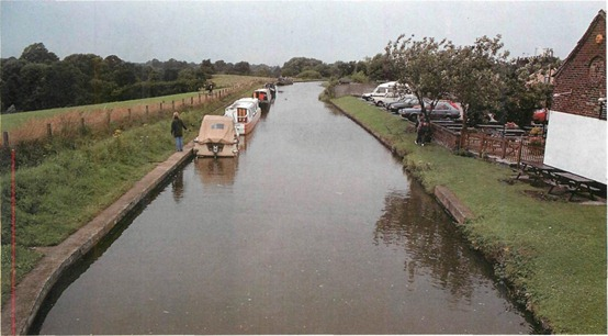 The Trent and Mersey Canal in south Cheshire