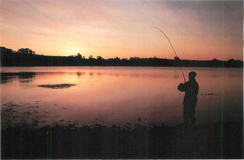 18 fishing at Hollowell Reservoir