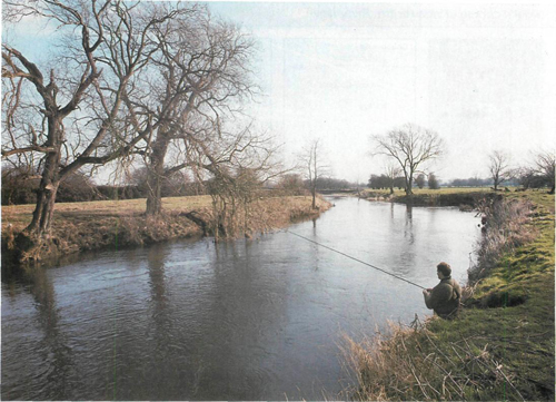 23 fishing the River Dove near Marston