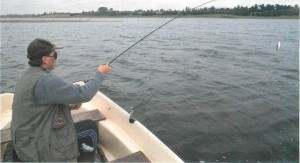 Angling for trout on Draycote Water 004