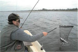 Angling for trout on Draycote Water 006