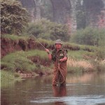 Fishing for brown trout on the River Eden001