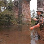 Fishing for brown trout on the River Eden003