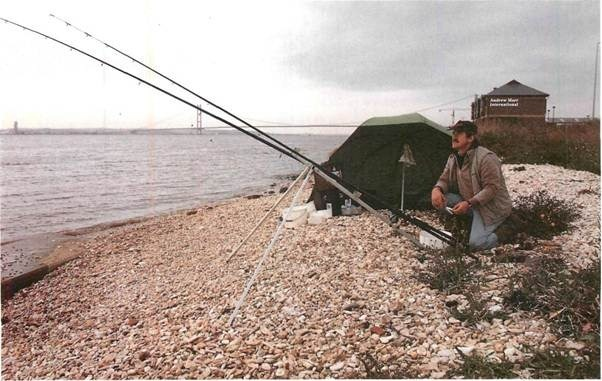 fishing north bank of the Humber at Hessle
