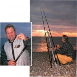 Night fishing with Chris Clark on Chesil Beach