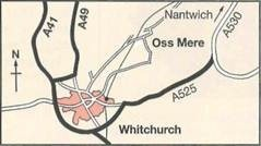 Oss Mere is situated on Mile Bank Road