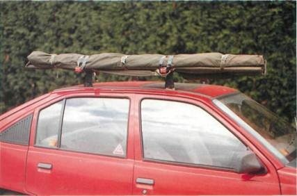 transport fishing rods safely on car roof