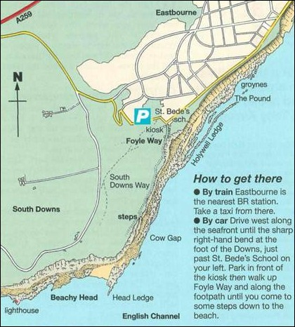 directions and map to beachy head fishing spots