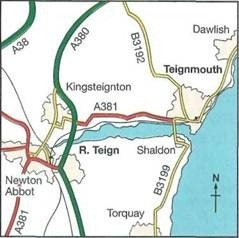 map and directions for Teign Estuary