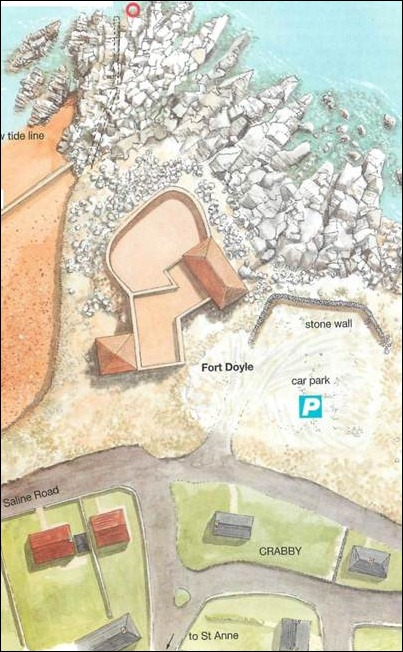 map of fort Doyle