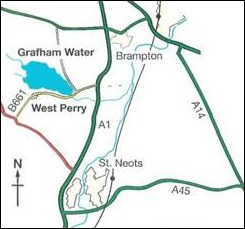 directions and map to Grafham Water