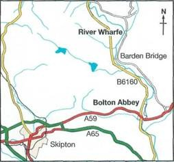 map and directions to River Wharfe