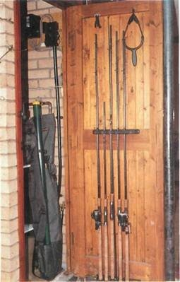 rack for safe fishing rod storage