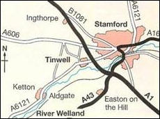 Tinwell map
