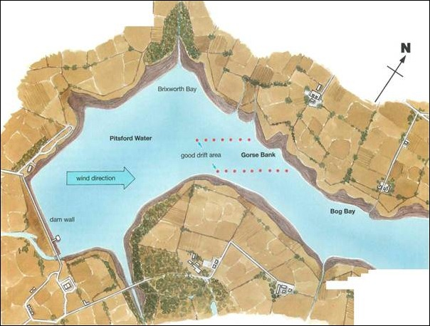 map of pitsford water
