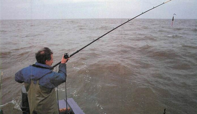 Fishing off the coast of Lancashire