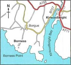 directions and map for Kirkcudbright